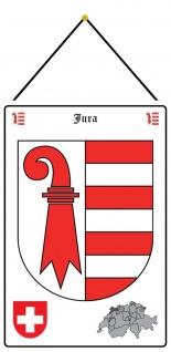 Blechschild Jura Wappen Metallschild Deko 20x30 mit Kordel