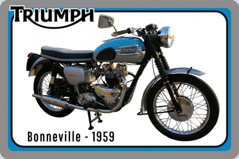 Triumph Bonneville 1959 motorrad, motor bike, motorcycle blechschild
