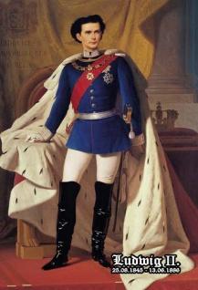 Retro: Ludwig II König von Bayern 1845-1886 Blechschild 20x30 cm