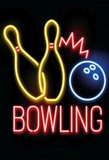 Blechschild Sport Bowling Kegeln Metallschild Wanddeko 20x30 cm tin sign