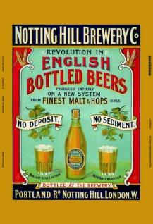 Notting Hill Brewery English Bottled Beer blechschild