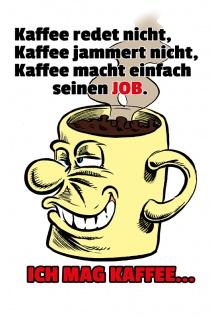 """"""" ich mag Kaffee"""" blechschild, lustig, comic, metallschild"""