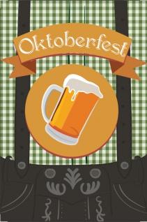 Oktoberfest blechshild, lederhose, bierfest, biergarten, bayern, bavaria, trachten