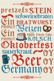 retro blechsschild, spruchschild, oktoberfest, bavaria, bayern, sauerkraut, bier, bratwurst, biergarten