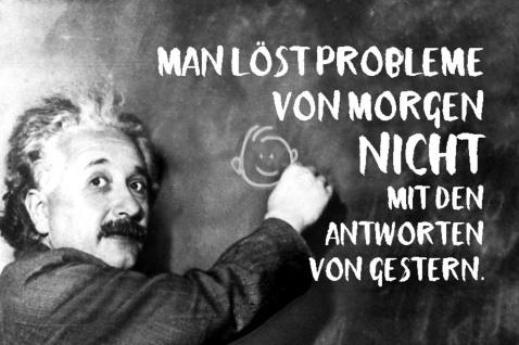 Blechschild Spruch Man löst Probleme Einstein Metallschild Wanddeko 20x30 cm tin sign