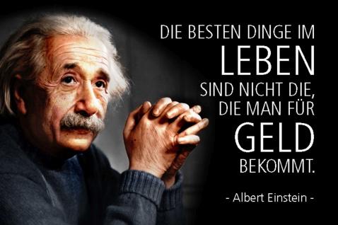 Blechschild Spruch Einstein Die besten Dinge im Leben sind Metallschild Wanddeko 20x30 cm tin sign