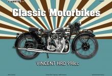 Vincent HRD 998CC Classic Motorrad Blechschild