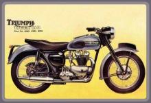 Triumph Tiger 110 motorrad motorcycle blechschild