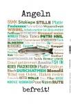 Angeln - befreit fischerman fisch fishing blechschild