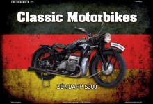 Zündapp S300 Deutsch Classic Motorrad Blechschild