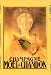 Moet & Chandon champagne 1743 reklame blechschild