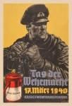 Tag der Wehrmacht 17 März 1940 Soldat bundeswehr wehrmacht blechschild