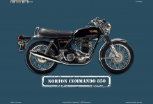 Norton Commando 850 Motorrad blechschild