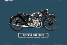 Vincent HRD 998CC Motorrad Blechschild