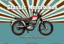 Triumph Tiger Baby Classic Motorrad Blechschild