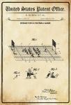 US Patent Office - Design for A Football Game - Entwurf für ein Fußball Spiel - Rubino 1926 - Design No 1.603.717 - Blechschild