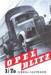 Opel Blitz LKW 1.5to schnell lastwagen blechschild