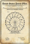 US Patent Office - Design for an Amusement Apparatus - Entwurf für ein Unterhaltungsapparat - Hermann, New York, 1920 - Design No 1.354.436 - Blechschild
