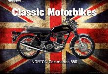 Norton Commando 850 UK Classic Motorrad blechschild