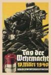 Tag der Wehrmacht 17 März 1940 Soldaten bundeswehr wehrmacht blechschild