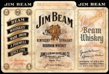 Jim Beam Whiskey Kentucky straight Bourbon 1795 flasche etikett alkohol blechschild