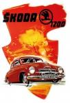 Skoda 1200 auto car blechschild