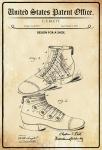 US Patent Office - Design for A Shoe - Entwurf für eine Schuhe - Klett, 1901 - Design No 669.417 - Blechschild