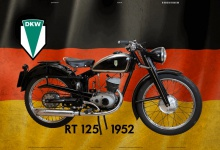 DKW RT 125 1952 Deutschland motorrad blechschild