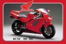 Honda NR 750 1991-1992 125PS motorrad, motor bike, motorcycle blechschild