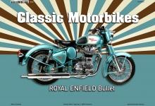 Royal Enfield Bullet Classic Motorrad Blechschild