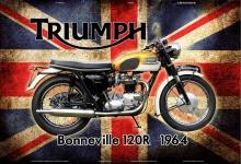 Triumph Bonneville 120R 1964 UK motorrad blechschild