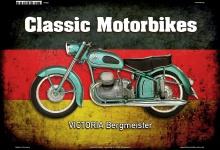 Victoria Bergmeister Deutsch Classic Motorrad Blechschild
