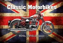 Royal Enfield UK Classic Motorrad Blechschild