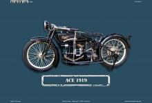 Ace 1919 Motorrad Blechschild
