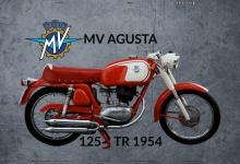 MV Agusta 125 TR 1954 motorrad blechschild
