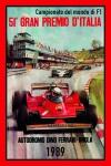 Formel 1 Grand Prix Italien 1989 ferrari Autorennen blechschild