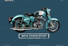 Royal Enfield Bullet Motorrad Blechschild