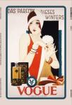 Vogue parfüm wolff & sohn reklame blechschild