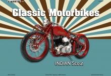 Indian Scout Classic Motorrad Blechschild