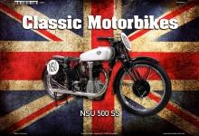 NSU 500-SS UK Classic Motorrad Blechschild
