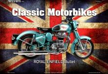 Royal Enfield Bullet Uk Classic Motorrad Blechschild