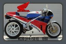 Honda RC30 1990 112PS motorrad, motor bike, motorcycle blechschild