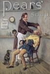 Pears Soap 1789 barber mit hund nostalgie reklame blechschild