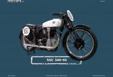 NSU 500-SS Motorrad Blechschild