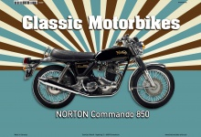Norton Commando 850 Classic Motorrad blechschild