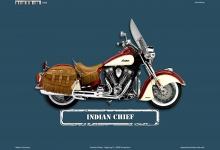 Indian Chief Motorrad Blechschild