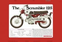 Honda Scrambler CL 125 specification motorrad blechschild