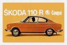 Skoda 110R Coupe auto blechschild