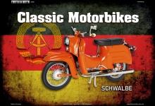 Schwalbe Deutsch Classic Scooter Blechschild