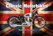 BSA M24 Goldstar UK Classic Motorrad Blechschild